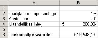 Excel waarde uit cel gebruiken formule